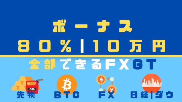 金先物からビットコインまで|取引所「FXGT」
